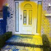 Verschmutzte Fassade, Reinigung Fassade, Clean Technology